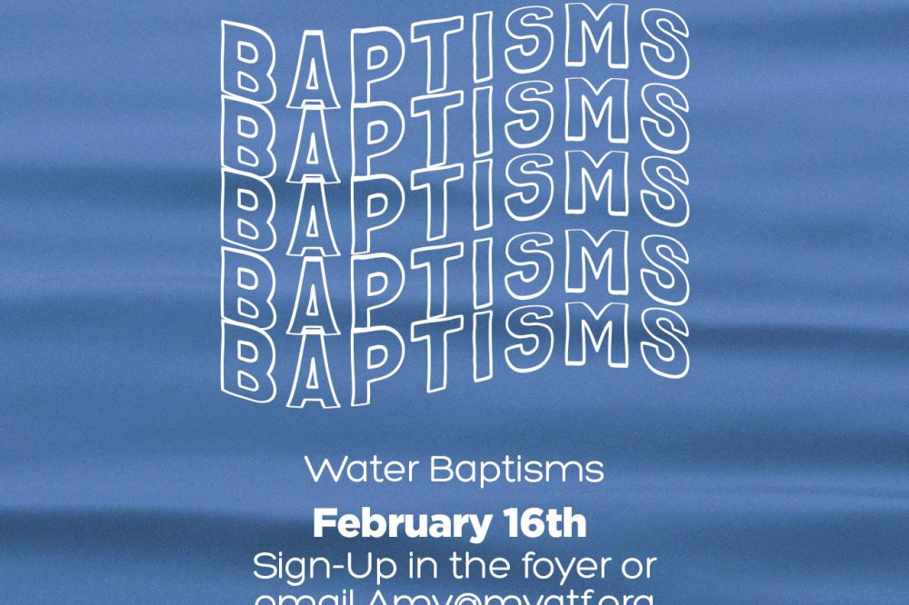 Water Baptism Service